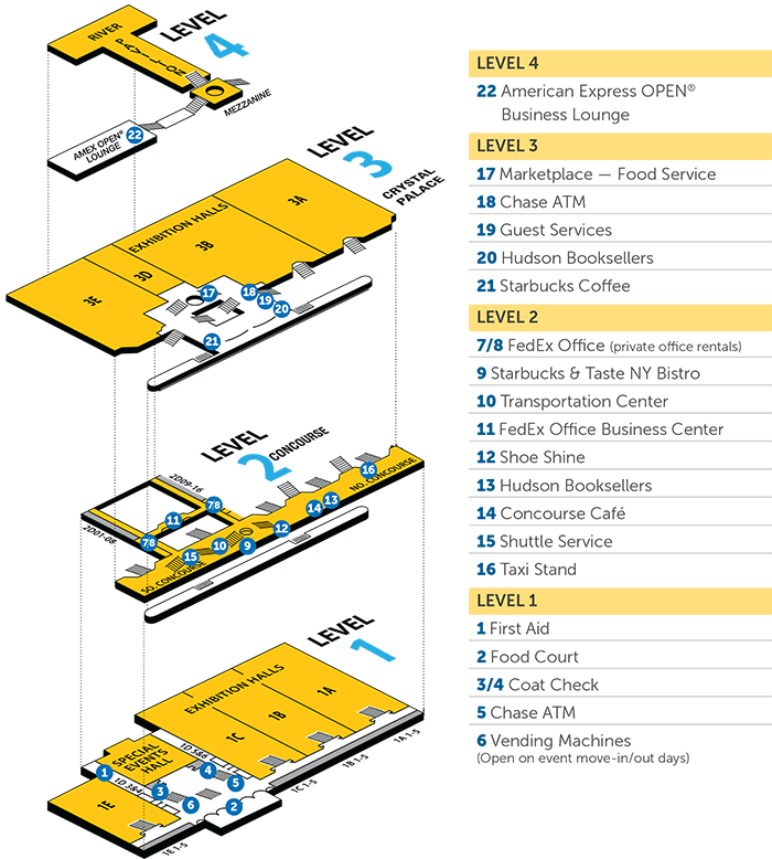 Floor Plans Javits Center